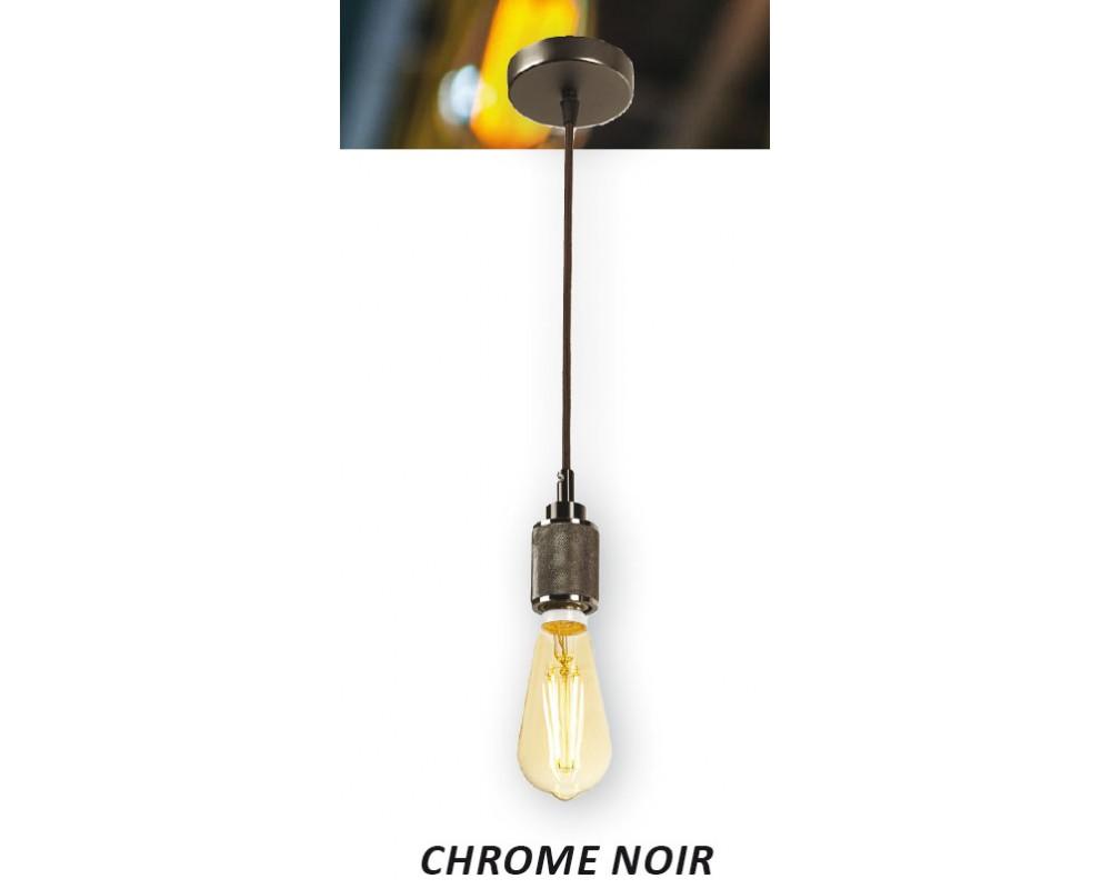 Suspension Led Décorative Noir Pour Lampes Chrome E27 zMpVqSUG