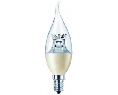 lampe led flamme dimmable claire coup de vent e14